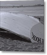 Boat On Sandy Hook  Beach New Jersey Metal Print