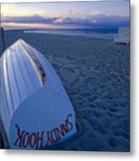 Boat On The New Jersey Shore At Sunset Metal Print