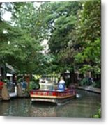 Boat On The San Antonio River Metal Print