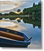 Boat On The Shore Of A Lake  Metal Print