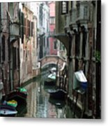 Boat On The Wall Metal Print