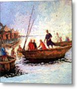 Boat Peaple Metal Print