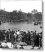 Boat Races In Central Park Metal Print