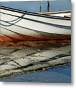 Boat Reflected Metal Print