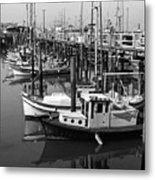 Boat Reflections Metal Print
