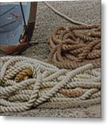 Boat Ropes Metal Print