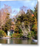 Boat Shed On The Waikato River Metal Print