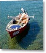 Boat Small Rovinj Croatia Metal Print