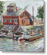 Boat Station On Krestovsky Island In St.-petersburg Metal Print