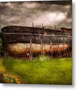 Boat - The Construction Of Noah's Ark Metal Print