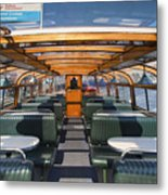 Boat Trip In The Channles Of Amsterdam Metal Print