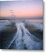 Boat Waves Metal Print