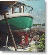 Boat Yard Boat 01 Metal Print