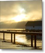 Boathouse Daybreak Metal Print