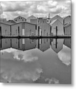 Boathouse Reflections Metal Print
