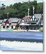Boathouse Row - Palette Knife Metal Print
