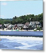 Boathouse Row 2 - Palette Knife Metal Print