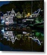 Boathouse Row Eight By Ten Metal Print