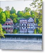 Boathouse Row - Framed In Spring Metal Print