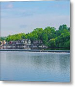 Boathouse Row From Mlk Drive - Philadelphia Metal Print