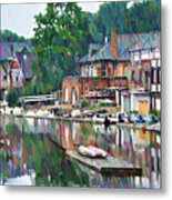 Boathouse Row In Philadelphia Metal Print