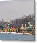 Boathouse Row On A Winter Morning Metal Print
