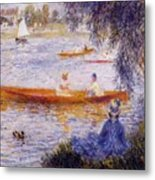 Boating At Argenteuil 1873 Metal Print