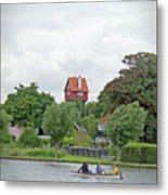 Boating In Thorpeness Metal Print