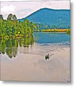 Boating On Connecticut River Between Vermont And New Hampshire Metal Print