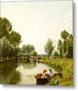 Boating On The Stour Metal Print