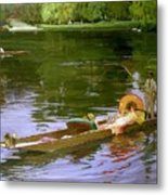 Boating Scene At Maidenhead Sir John Lavery Metal Print