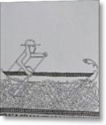 Boatman Metal Print