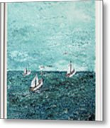 Boats And Birds Metal Print