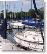 Boats And Boats Metal Print