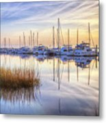 Boats At Calm Metal Print