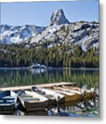 Boats At Dock Metal Print