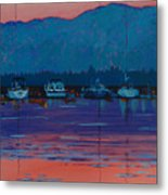 Boats At Dusk Metal Print