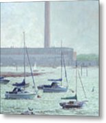 Boats At Fawley Hampshire Metal Print