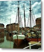 Boats At Gloucester Docks Metal Print