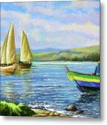 Boats At Lake Victoria Metal Print