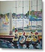 Boats At Marina Del Rey Metal Print