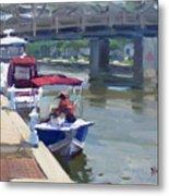 Boats At North Tonawanda Canal Metal Print