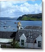 Boats At Portree Metal Print