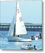 Boats At Provincetown Metal Print