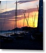 Boats At Rest Metal Print