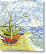 Boats At St. Maries Metal Print