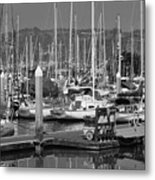 Boats At The Bay Metal Print