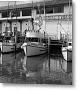 Boats At The Dock Metal Print