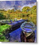 Boats At The Lake Metal Print