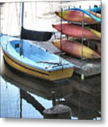 Boats For Rent Metal Print